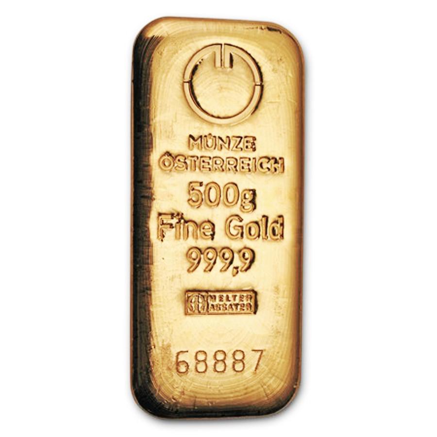 816b0bfa4 Zlatá tehla 500g - SILVERUM - Investiční stříbro, Investiční zlato