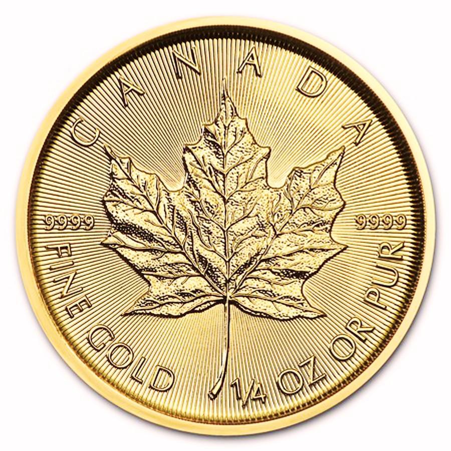 af53160d2 Zlatá minca Canadian Maple Leaf 1/4 oz - SILVERUM - Investiční ...