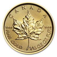 Zlatá minca Canadian Maple Leaf 1/10 oz