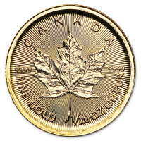 Zlatá minca Canadian Maple Leaf 1/20 oz